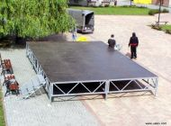 Zastřešené pódium 7,5 x 5 m