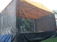 Mobilní pódium - Zastřešené pódium 4x4m